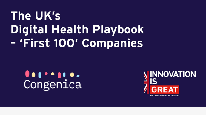 Congenicanamed inUK's Digital Health Playbook - 'First 100' Companies