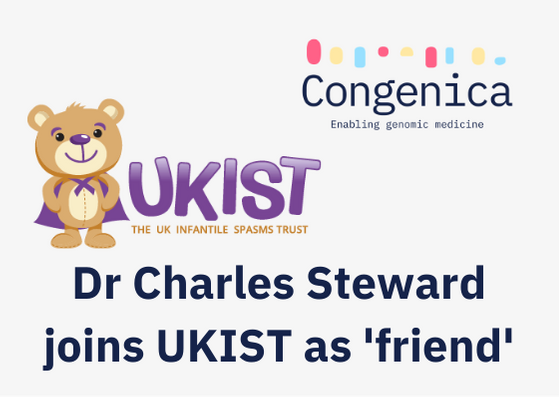 """Dr Charles Steward joins as """"friend"""" of the UK Infantile Spasms Trust"""