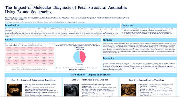 Genomic sequencing in a prenatal setting - posters presented at ISPD