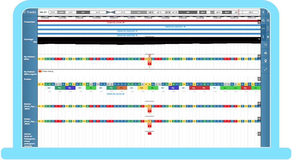 Congenica integrated genome browser